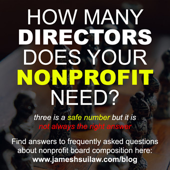 How Many Directors are Needed on a Nonprofit/501(c)(3) Board?