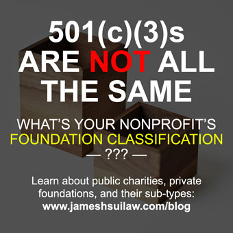 501(c)(3) Nonprofit Types: Public Charity & Private Foundation Classification