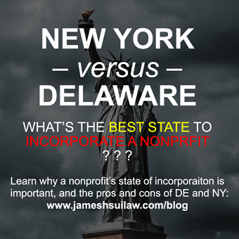 New York versus Delaware - what is the best state to incorporate a 501c3 nonprofit?